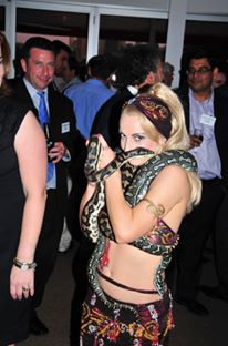 Flavella L'Amour Belly Dance Serpent Dance at the River Torrens Cafe