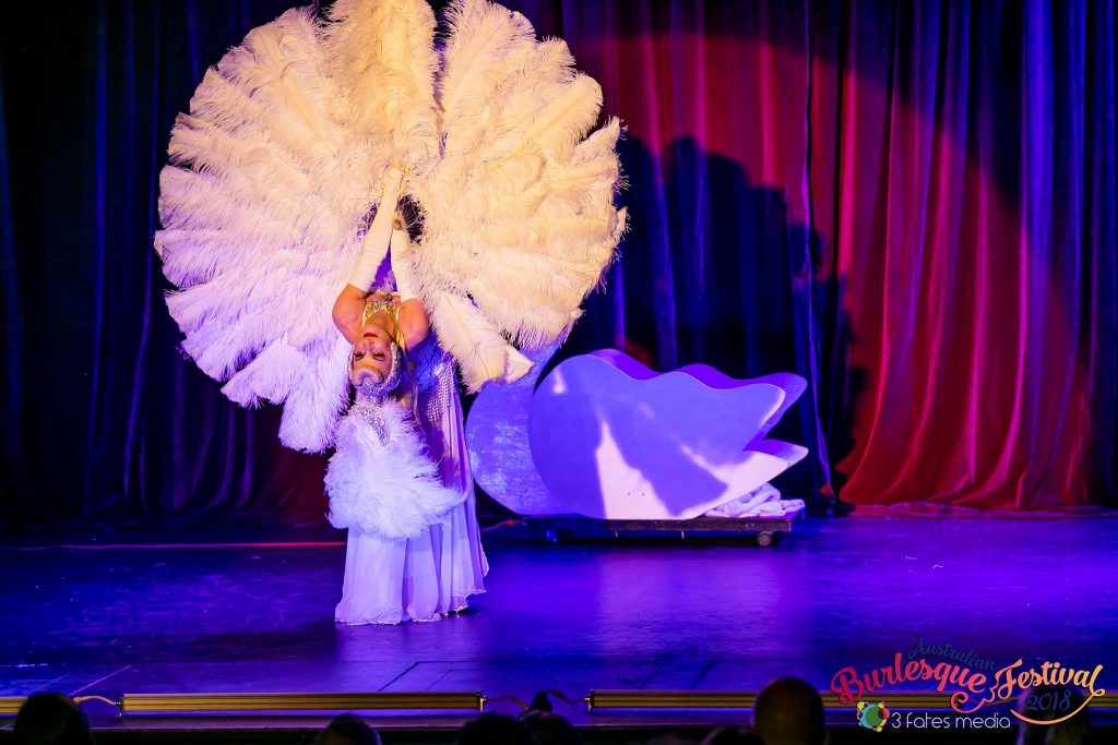 Burlesque Dancer Flavella L'Amour Magic Moon Goddess