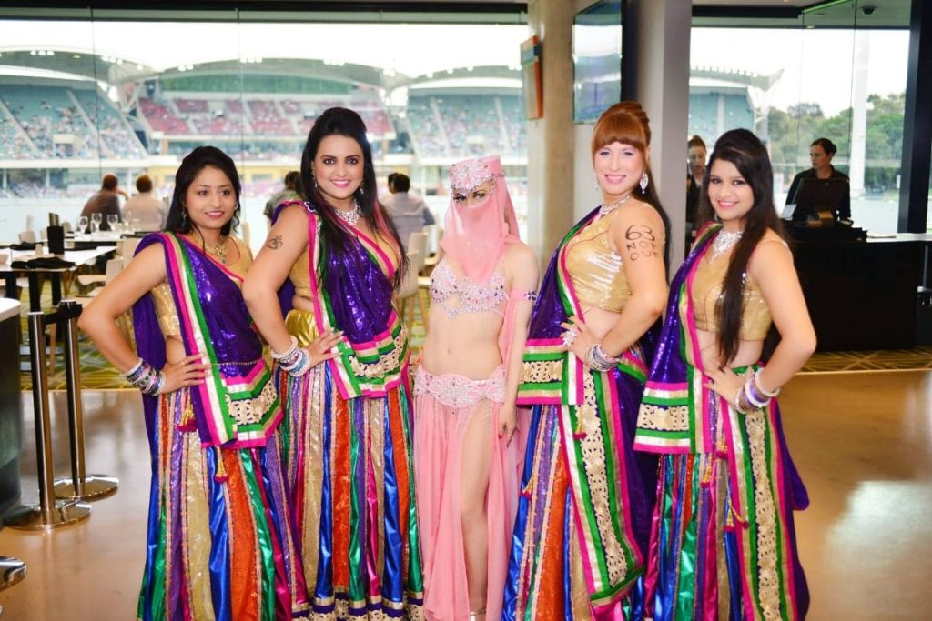 Serpent Dancer & Mudra Bollywood dancers at Adelaide Oval