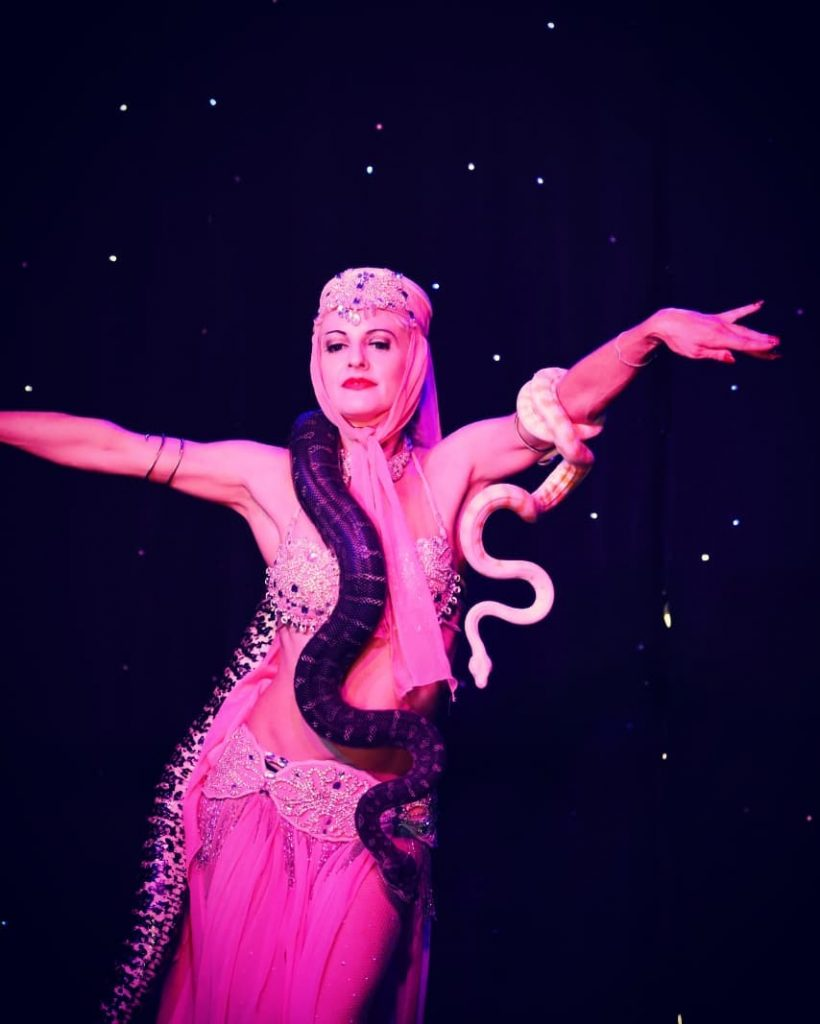 Serpent Dancer at Deja Voodoo in the Garden of Unearthly Delights